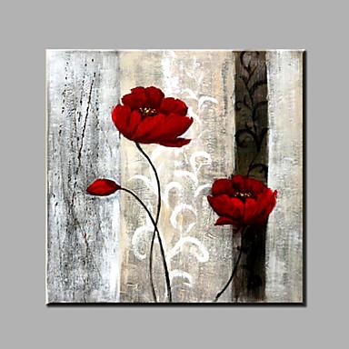 Peint à La Main Nature Morte Carré Moderne Toile Peinture à Lhuile