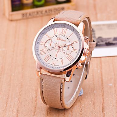 cheap Women's Watches-Geneva Women's Wrist Watch Quartz Ladies Casual Watch Leather Black / White / Blue Analog - White Black Yellow One Year Battery Life / Tianqiu 377