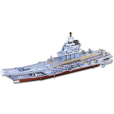 levne 3D puzzle-Puzzle 3D puzzle Papírové modely Stavební bloky DIY hračky Letadlo Papír Šedá Modelování