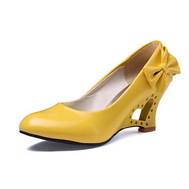 ราคาถูก ส้นรองเท้า-สำหรับผู้หญิง รองเท้าส้นตึก หนังเทียม ฤดูใบไม้ผลิ / ฤดูร้อน สีดำ / สีเหลือง / แดง / งานแต่งงาน / พรรคและเย็น / แต่งตัว / พรรคและเย็น / EU40