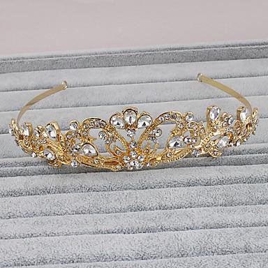 Bergkristall Tiaras / Huvudbonad med Blomma 1st Bröllop / Speciellt Tillfälle / Casual Hårbonad