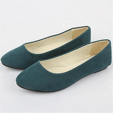 levne Dámské boty s plochou podrážkou-Dámské Rovná podrážka Flís Léto Námořnická modř / Burgundská fialová / Tmavě zelená / EU42