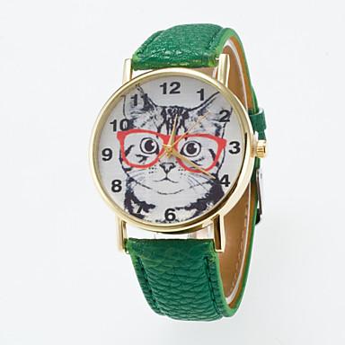 preiswerte Klassische Uhren-Damen Uhr Armbanduhr Quartz Gestepptes PU - Kunstleder Schwarz / Weiß / Blau Armbanduhren für den Alltag Analog Charme Klassisch Modisch Blau Rosa Khaki / Ein Jahr / Ein Jahr / Jinli 377