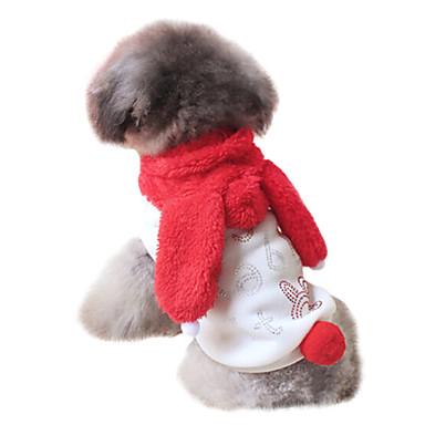 Hund Dräkter / Kostymer Huvtröjor Outfits Hundkläder Djur Bokstav & Nummer Röd Cotton Kostym Till Vår & Höst Herr Dam Cosplay Mode Halloween