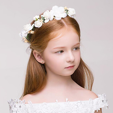 povoljno Party pokrivala za glavu-Tekstil / plastika vijence s 1 Vjenčanje / Special Occasion / Vanjski Glava