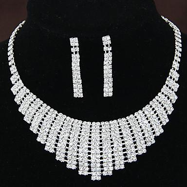 Klar Smycken Set damer Mode Brudkläder Diamantimitation örhängen Smycken Till Bröllop Party Årsdag Födelsedag Förlovning Gåva / Örhängen / Dekorativa Halsband
