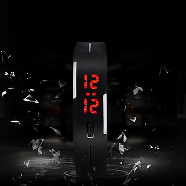 levne Pánské-Pánské Sportovní hodinky Digitální Silikon Vícebarevný Dotykový displej LED Digitální Přívěšky Módní - Zelená Růžová Světle modrá Jeden rok Životnost baterie / SODA AG4