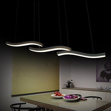 3-Light Hängande lampor Fluorescerande Målad Finishes Metall Akryl LED 110-120V / 220-240V Varmt vit / Vit