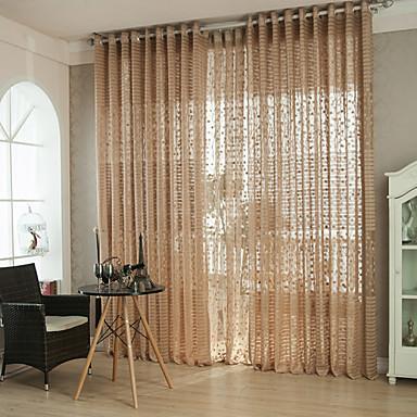 ren gardiner nyanser två paneler vardagsrummet solid färgad randkurva polyester hål ut