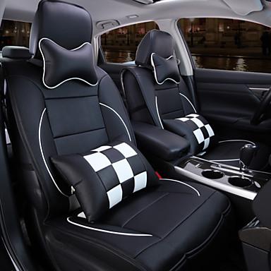 een nieuw volledig lederen plaid auto bekleding kussen auto ...
