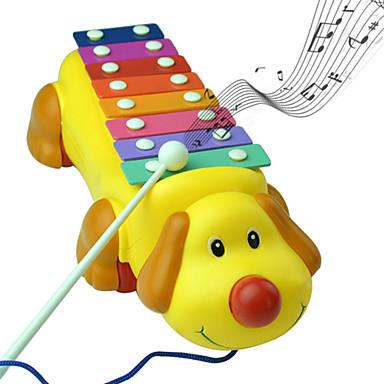 gullig hund färgrik slå piano musikinstrument musik leksaker