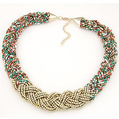 Dam Strands halsband Halsring Lasso Invävda Halsband damer Mode afrikansk Plast Legering Halsband Smycken Till Dagligen Casual