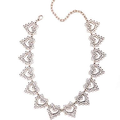 Dam Hänge Halsband Hjärta Kärlek Europeisk Minimalistisk Stil Legering Purpur Halsband Smycken Till Party Dagligen Casual