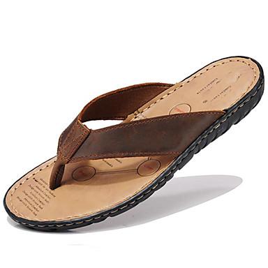 Unisex Zapatos Cuero de Napa Primavera Verano Otoño Zapatos de los pares Zapatillas y flip-flops Agua para Casual Al aire libre Vestido qFapCIG