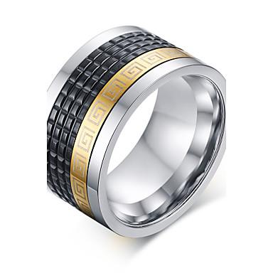 voordelige Herensieraden-Heren Statement Ring Agaat Goud / Zwart Agaat Titanium Staal Vintage Rock Hyperbool Kerstcadeaus Bruiloft Sieraden