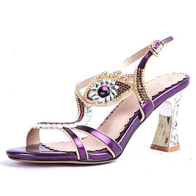 5b11884eedc Women s Shoes Heel Heels   Peep Toe Sandals   Heels Party   Evening   Dress    Casual Purple   Silver   Gold 4865735 2019 –  44.99