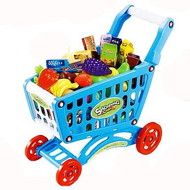 Leksaksbilar Låtsaslek Kundvagnsleksaker Grönsaker Frukt Kundvagn Simulering Plast Barn Leksaker Present
