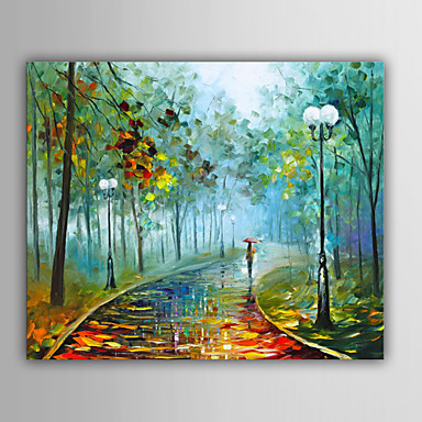 Dipinta a mano Paesaggi Orizzontale, Stile europeo Tela Hang ...