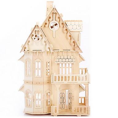 levne 3D puzzle-Puzzle 3D puzzle / Dřevěné puzzle Stavební bloky DIY hračky Dům Dřevo Zlatá Modelování