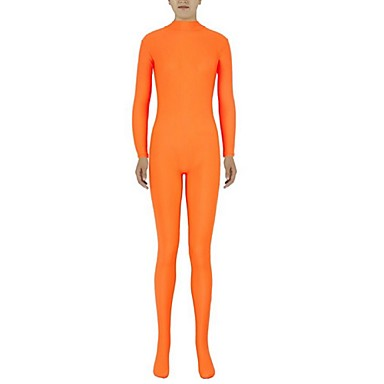 Zentai Dräkter Kattdräkt Huddräkt Ninja Vuxna Spandex Lycra Cosplay-kostymer Kön Herr Dam Orange Enfärgad Halloween / Hög Elasisitet