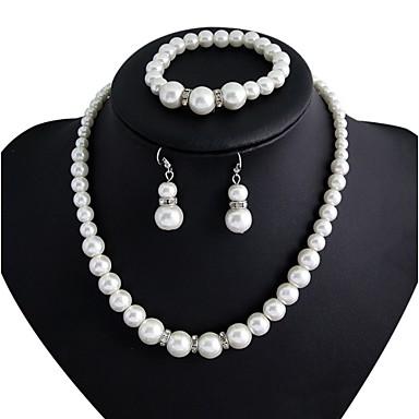 Dam Smycken Set örhängen Smycken Vit Till Party Årsdag Förlovning