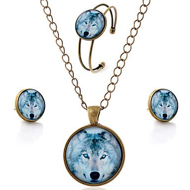 levne Dámské šperky-Dámské Sady šperků Zvíře Vlk dámy minimalistický styl Náušnice Šperky Hnědá Pro Párty Denní Ležérní / Náhrdelníky / Náramek