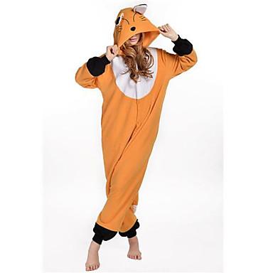 8fcbfac644ef Adulto Pijamas Kigurumi Zorro Animal Pijamas de una pieza Lana Polar  Naranja Cosplay por Hombre y mujer Ropa de Noche de los Animales Dibujos  animados ...