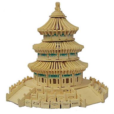 3D-pussel Träpussel Trämodeller Kinesisk arkitektur himlens tempel Trä Pojkar Flickor Leksaker Present