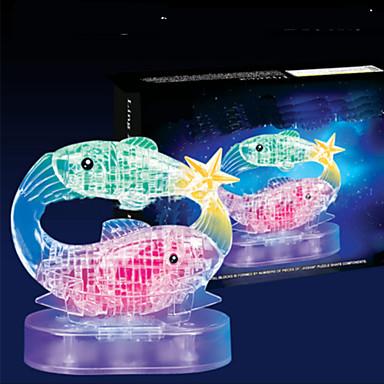 levne 3D puzzle-3D puzzle Dřevěné puzzle Křišťálové puzzle Ryby ABS Chlapecké Dívčí Hračky Dárek