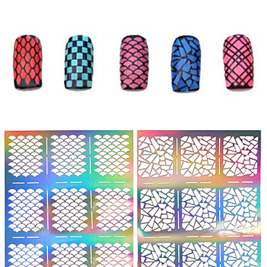 1 Diecut Manicure Stencil 3D Nail Acrylic Molds Flower Fashion Daily High Quality