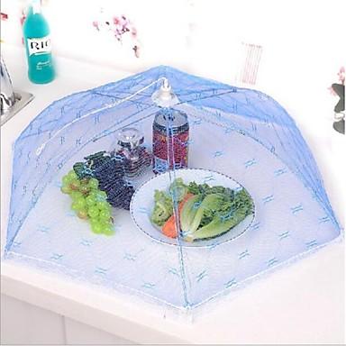 kök part bord förvaring av livsmedel täcker fällbara paraply mesh spets metallram slumpmässig färg