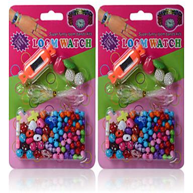 pedagogiska leksaker amblyopi barns DIY hantverk pärlor rätt vision produkter den nya godis klockförvaring