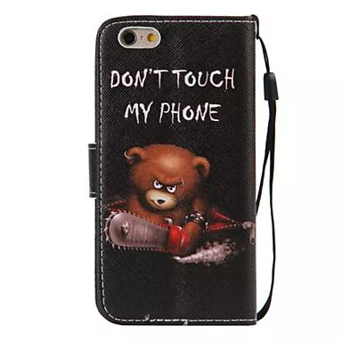 fodral Till Apple iPhone 6s Plus / iPhone 6s / iPhone 6 Plus Plånbok / Korthållare / med stativ Fodral Ord / fras Hårt PU läder