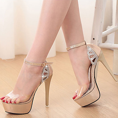 796a5da6366 Γυναικεία παπούτσια-Πέδιλα-Φόρεμα / Πάρτι & Βραδινή Έξοδος-Τακούνι Στιλέτο-Με  Τακούνι / Peep Toe / Πλατφόρμες-Δερματίνη-Μαύρο / Χρυσό 4924746 2019 –  $34.99