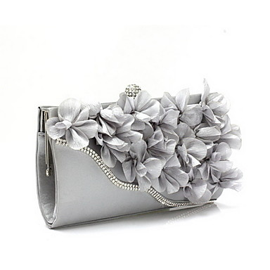 cheap Clutches & Evening Bags-Women's Bags Chiffon Evening Bag Flower for Wedding / Party / Event / Party Black / Fuchsia / Pink / Wedding Bags