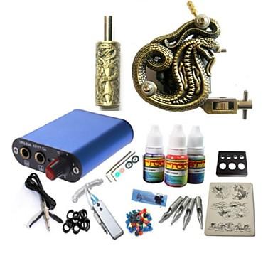 BaseKey Tattoo Machine Startkit, 1 pcs Tatueringsmaskiner med 1 x 20 ml tatueringsfärger - 1 x legerings tatueringsmaskin för linjering