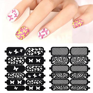 1 pcs 3D Nail Acrylic Molds Diecut Manicure Stencil nail art Manicure Pedicure Flower / Fashion Daily / PVC(PolyVinyl Chloride)