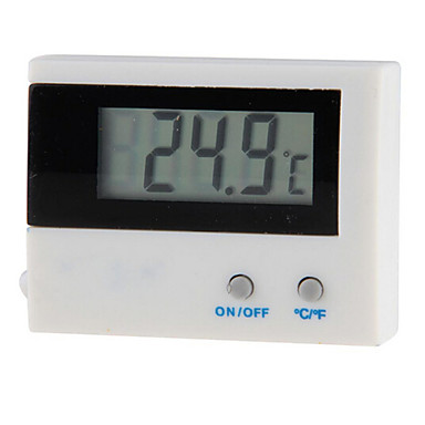 lcd digital fisk akvariet vattentemperatur termometer Celsius Fahrenheit