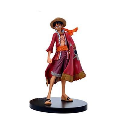 cheap Action & Toy Figures-Action Figure Monkey D. Luffy PVC(PolyVinyl Chloride) 1 pcs Cartoon Men's Toy Gift