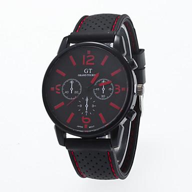 preiswerte Klassische Uhren-Herrn Uhr Armbanduhr Aviation Watch Quartz Silikon Weiß / Rot / Orange Armbanduhren für den Alltag Analog Charme Klassisch Gelb Rot Grün / Ein Jahr / Jinli 377