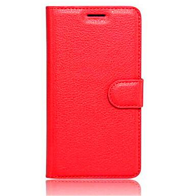 fodral Till Xiaomi Plånbok / Korthållare / med stativ Fodral Enfärgad Hårt PU läder