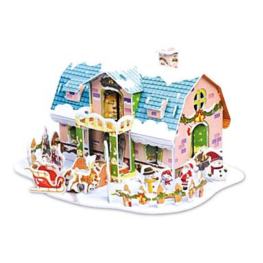 levne 3D puzzle-vánoční dárek chytrý dům snový chata 3D puzzle (38pcs)
