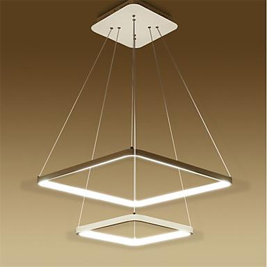 Hängande lampor Glödande Rektangulär Metall Akryl LED 110-120V / 220-240V Varmt vit / Vit / Dimbar med fjärrkontroll