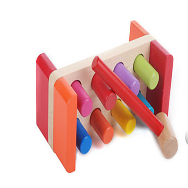 Hammering / Pounding Toy Byggklossar Baby- och småbarnsleksak Leksaker Utbilding Trä Barn Bitar