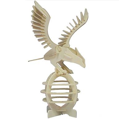 levne 3D puzzle-Puzzle 3D puzzle / Dřevěné puzzle Stavební bloky DIY hračky Eagle Dřevo Zlatá Modelování