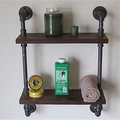 wrought iron bathroom shelf. Vintage Wrought Iron Pipe Double Tier Metal Bathroom Shelf Para Banheiro Bath Shelves Accessories 1pc Z52 4924869 2018 \u2013 $63.74 L