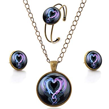 Unisex Smycken Set Drake Hjärta Kärlek damer Minimalistisk Stil örhängen Smycken Brun Till Party Dagligen Casual / Örhängen / Dekorativa Halsband / Armband