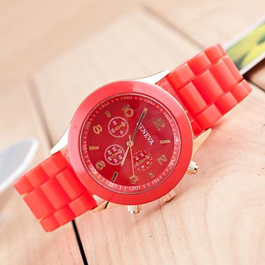 levne Pánské-Geneva Pánské Náramkové hodinky Křemenný Silikon Černá / Bílá / Modrá Hodinky na běžné nošení / Analogové Klasické Na běžné nošení - Zelená Růžová Světle modrá