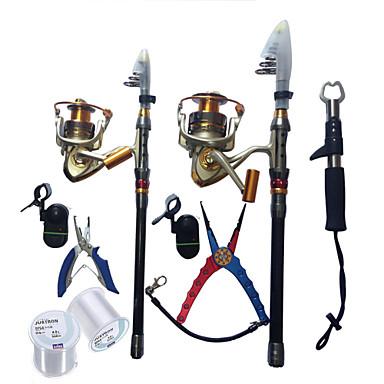 Telespin-spö 180,270 cm Telescopic Extra Tung (XH) Sjöfiske Isfiske Spinnfiske / Färskvatten Fiske / Abborr-fiske / Drag-fiske / Generellt fiske / Trolling & Båt Fiske