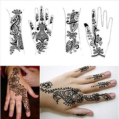 1pcs Tattoo-Vorlagen Hände Henna-Tattoo-Schablonen für ...